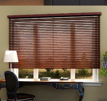 Horizontal Slat Wooden Venetian Window Blinds For Home Decor