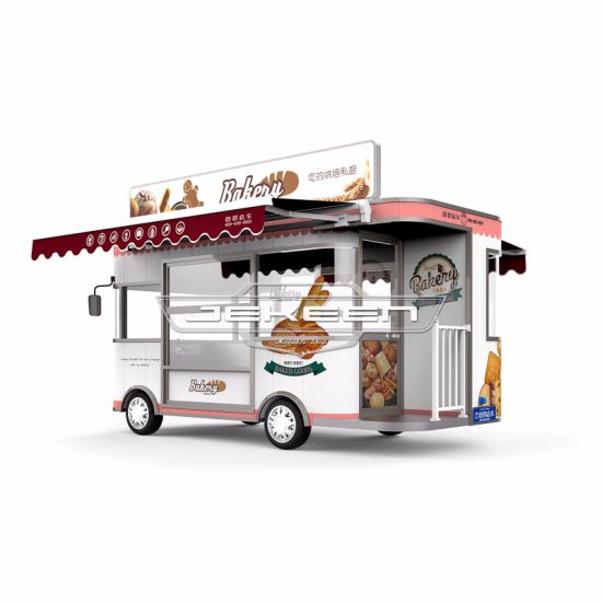 Jekeen Good Quality 4 Wheel Electric Fast Food Truck and Bakery Truck Hawk-42
