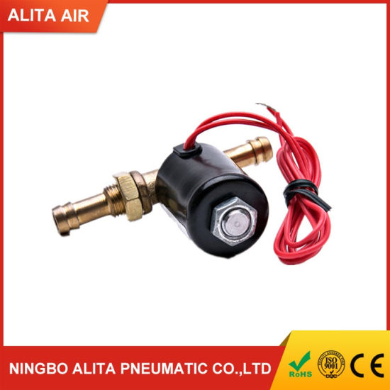 2 Way Welding Machines Brass Solenoid Valve 0-0.8MPa Without Buckle