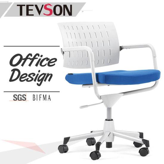 Modern Design Wholesale Plastic Office Swivel Chair for Staff, Clerk, Manager