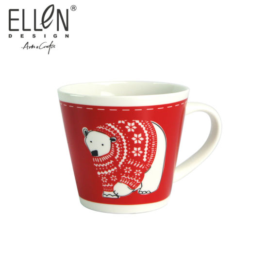 Wholesale Christmas Penguin Design Ceramic Mug