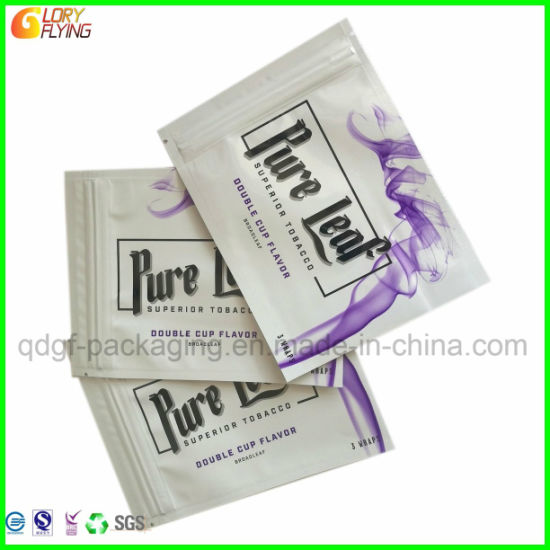Pure Leaf Superior Tobacco Packaging Bag with Zipper Smell Proof Mylar  Plastic Bag
