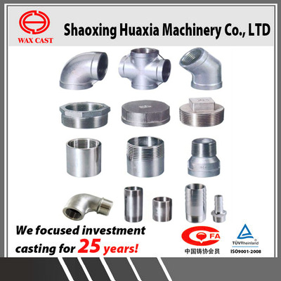 Precision Casting Parts Investment Casting Lost Wax Casting SS304 Pipe Fitting