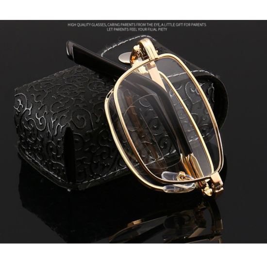 Bifocal Reading Glasses Foldable Reading Glasses with Case Folding Reading Glasses with Case