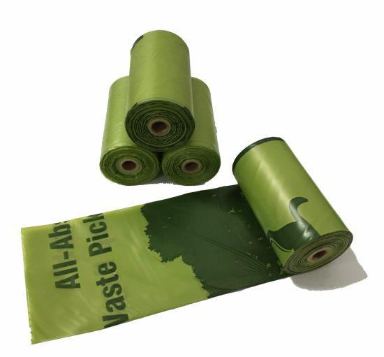Pet Product 100% Biodegradable Dog Waste Bag/ Dog Poop Bag with Dispenser