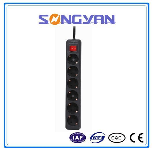Individual Switch ExtensionPower Strip Surge Mult-Protection Germany Style Switch Socket