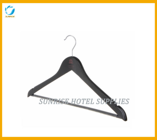 High Quality Wooden Clothing Hanger with Customized Logo pictures & photos
