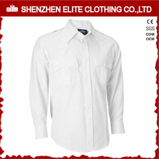 OEM Service White Guard Security High Quality Police Work Shirts (ELTHVJ-273) pictures & photos