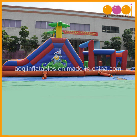 Popular Blue Jungle Obstacle Outdoor Crazy Inflatable (AQ1412-1) pictures & photos