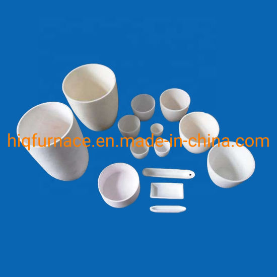 Alumina Advanced Ceramics Cylindrical Refractory Melting Ceramic Boat Crucible for Melting Gold, Alumina Ceramic Al2O3 Made Small Refractory Crucible