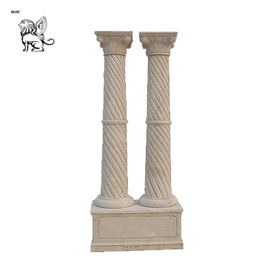 Factory Direct Sale of Natural Marble Carved Columns Mcy-04