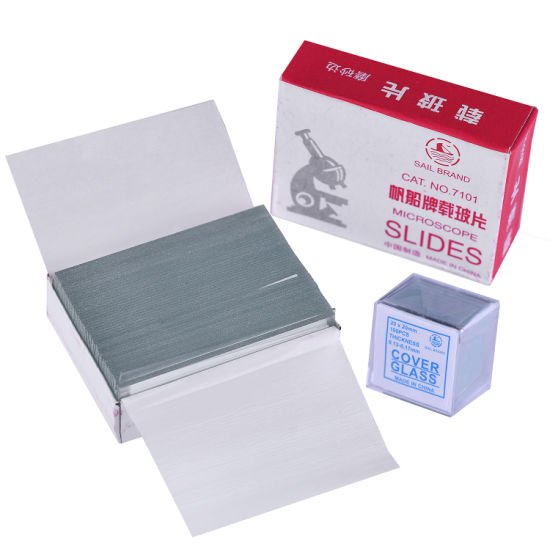 50 PCS Microscope Slides 1.2 Thick and 100 PCS Microscope Cover Glass for Preparation of Specimen for Biological Microscope