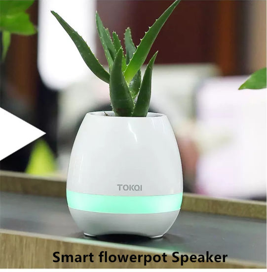 Magic Smart Music Flower Pot Bluetooth Speaker Playing Piano Sound for Real Plant pictures & photos