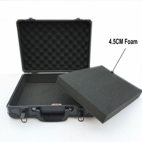 Blcak RC Airplane Aluminum Box Storage Box Instrument Case with Foam (HT-3016)