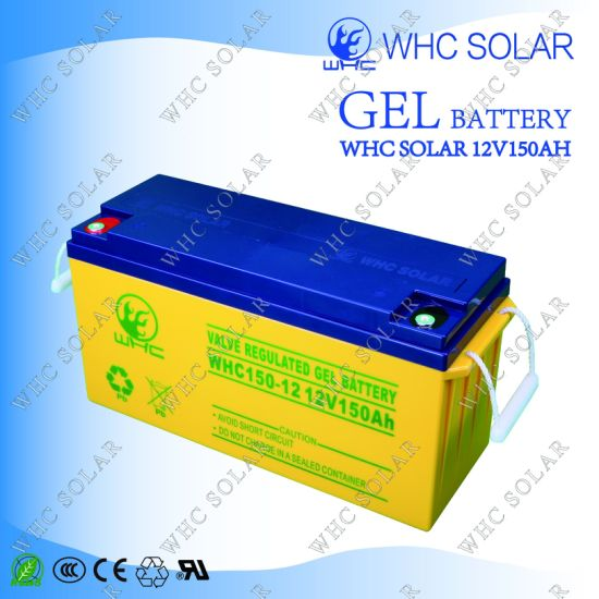 High Quality Gel Battery 12V 150ah Solar Cell pictures & photos