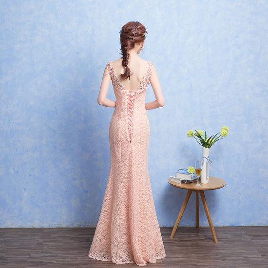 Fashion Double Shoulders Fishtail Ladies Party Dress M003