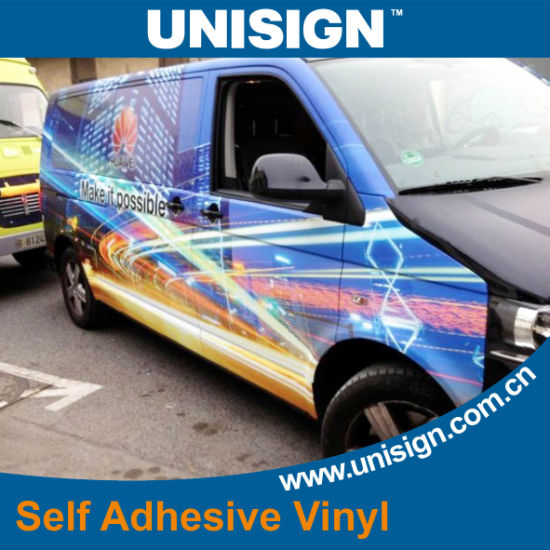 Removable Glue Polymeric PVC Self Adhesive Vinyl pictures & photos