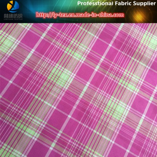 Grid in The Check! Polyester Jacquard Check Yarn Dyed Fabric pictures & photos