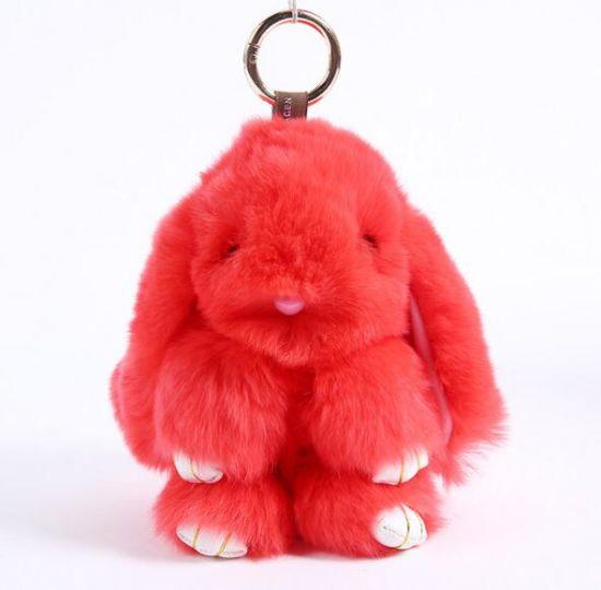Soft Fur Stuffed Plush Rabbit Keychain