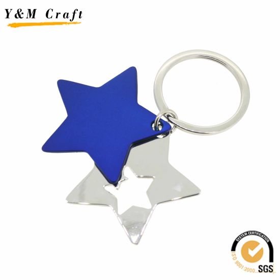 Zinc Alloy Metal Star Keyring for Promotional Gift pictures & photos