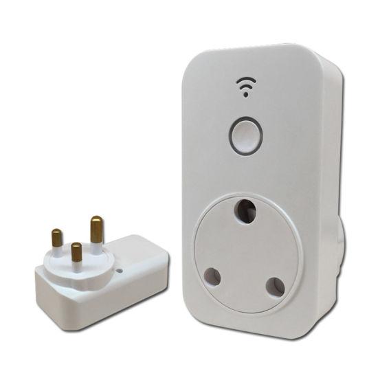 Smart Power Electrical Timer Socket with 15A Plug Wireless Smart Wi-Fi Switch Socket