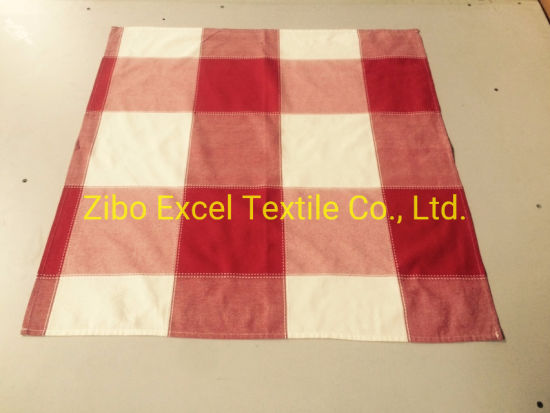 Yarn-Dyed Checked Tablecloth