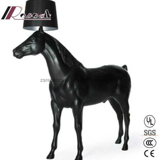 China tall and big horse standing floor lamp with conic fabric tall and big horse standing floor lamp with conic fabric shade mozeypictures Gallery