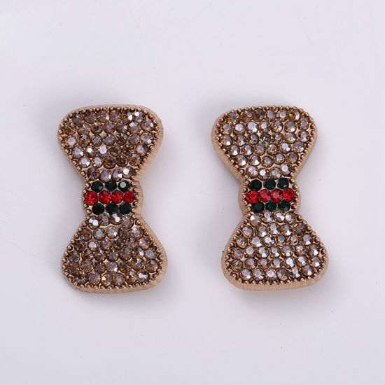 Bowknot Alloy Decorations Bag Accessories Rhinestone Shoes Buckles