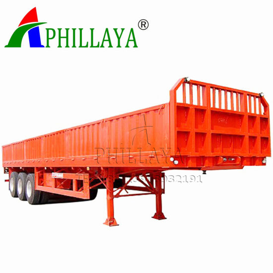 Side Wall Detachable Cargo Container Transport Truck Semi 40FT Flatbed Trailer pictures & photos