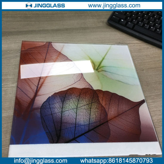 China Colorful Digital Ceramic Frit Flat Sheet Glass Panes For