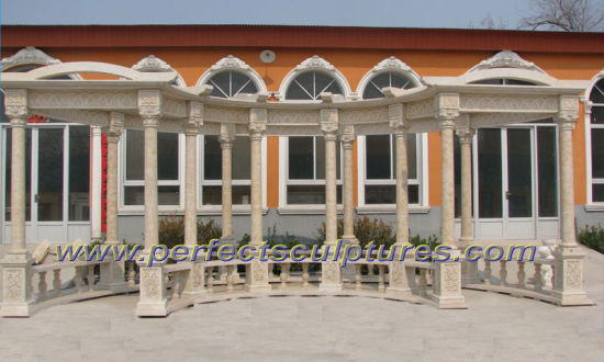Stone Marble Garden Gazebo for Outdoor Furniture (GR046) pictures & photos