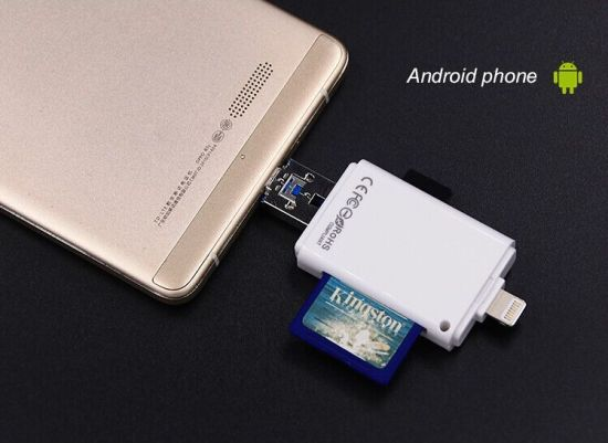China External Device OTG USB Micro SD and SD Card Reader