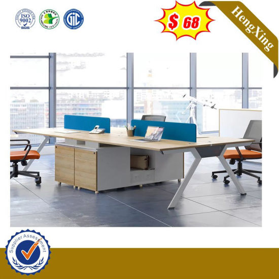 Fashion MDF Wooden Office 4 Seats Standing Computer Workstation Desk pictures & photos