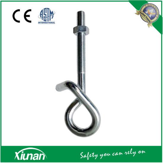 China Galvanized Swing Hanger Hook Bolt For Wooden Swing Sets