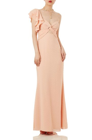 P1801-0282-P Contemporary Fashion Women Cocktail Party and Evening Dress Chiffon Long Dress