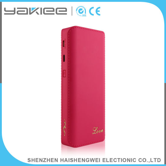 13000mAh Universal Leather Power Bank for Mobile Phone