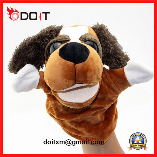 Baby Educational Toy Plush Dog Hand Puppet pictures & photos