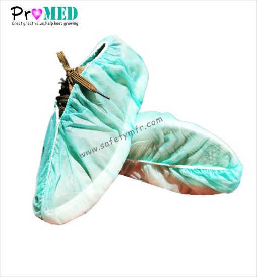Food Processing Disposable Nonwoven PP SMS Shoe Cover pictures & photos