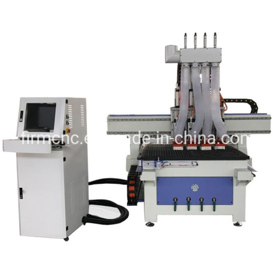1530 Atc Woodworking CNC Machine Pneumatic 4 Heads Wood Carving CNC Router