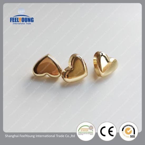 Custom Lead Free Heart Shaped Metal Shank Buttons