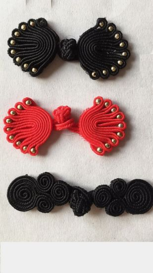 Traditional Black Buckle Knot for Garment