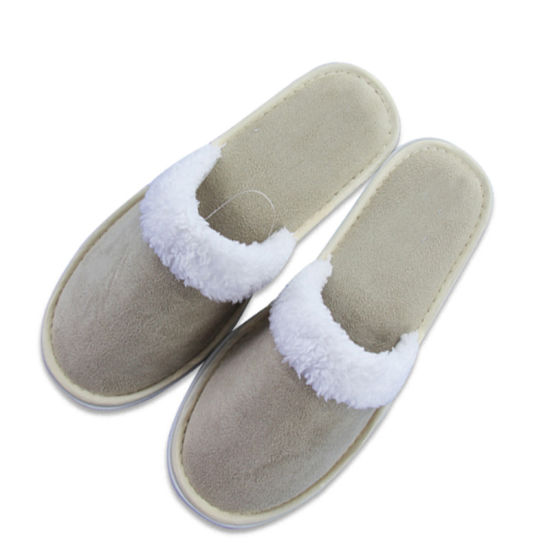 Recyclable Type Coffee Color for Europe Supermarket Men House Shoes Disposable Hotel Slipper