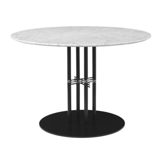 China Outdoor Seating Round Marble Top Restaurant Cafe Tables - Round marble cafe table