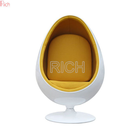Home Furniture Fabric Egg Shaped Chair With Speaker Fiberglass Swivel Chair