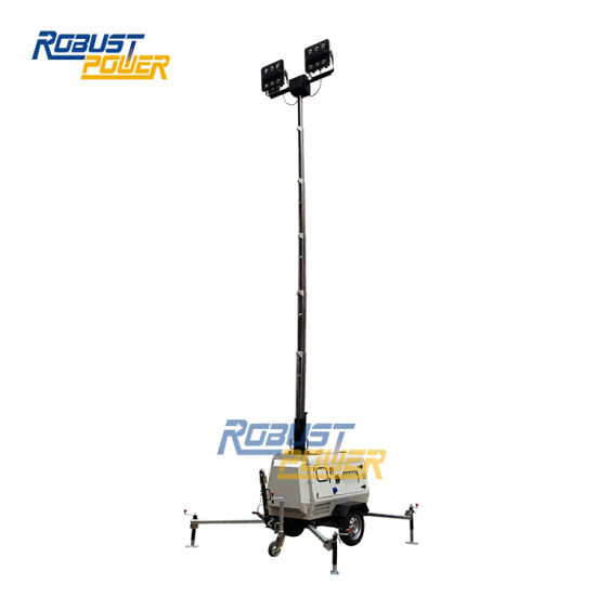 4.5kw Water-Cooled Diesel Generator LED Mobile Light Tower