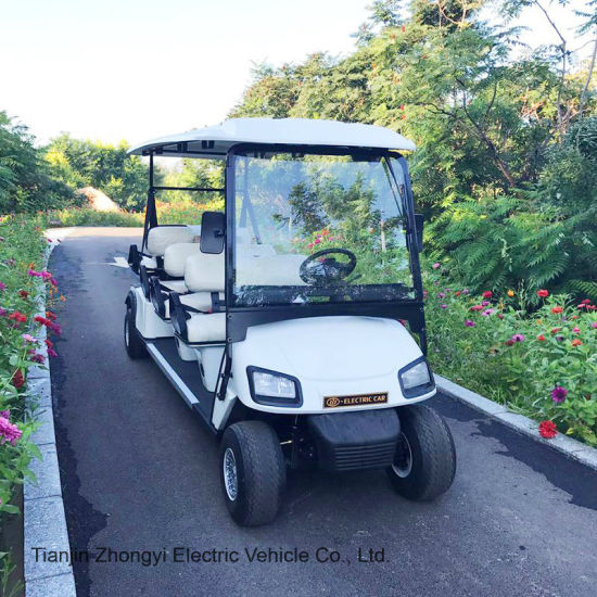 Zy Car Electric Vehicle 6 Persons Golf Carts Special Used Car for Airport