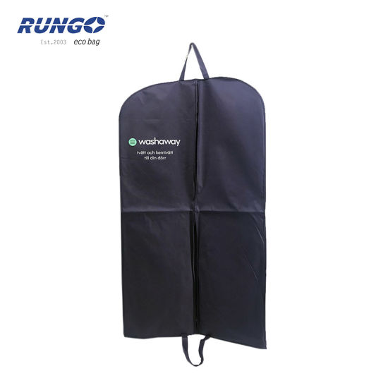 Custom Non Woven Eco-Friendly Designer Garment Suit Cover Bag