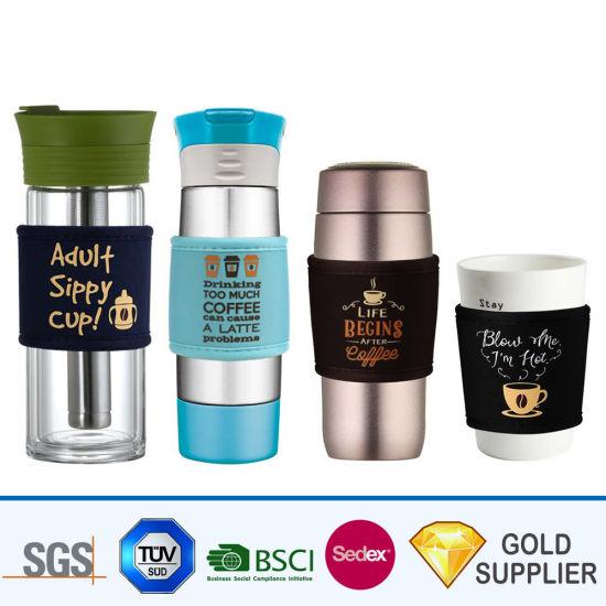 Outdoor Advertising Logo Branded Insulated Non-Slip Water Dispenser Wine Chilller Beer Spray Can Koozie Stubby Holder Ice Bag Gel PVC Neoprene Bag Bottle Cooler
