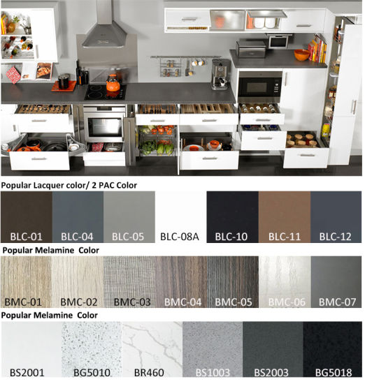 Kitchen Cabinet Top Material China Shaker Panel Best Material PVC Vinyl UV Board Kitchen