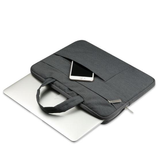 Neoprene Laptop Sleeves OEM Waterproof Polyester Laptop Sleeve Bag Laptop for MacBook with Handle Lightweight Zipper Notebook Organizer Laptop Sleeve